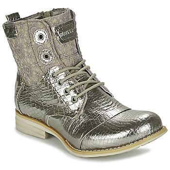 Schuhe Damen Boots Bunker SARA Silbern