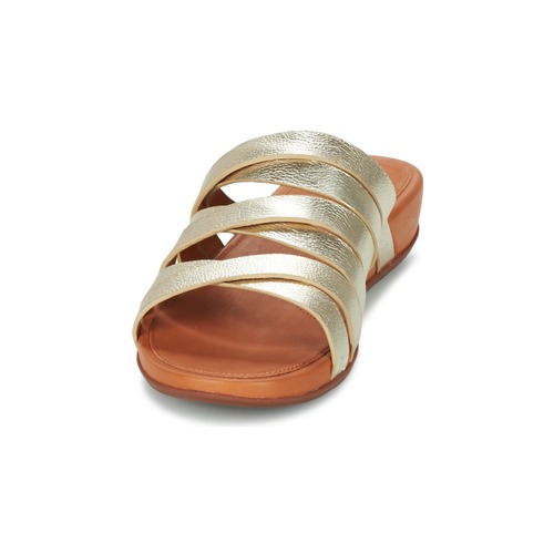 FitFlop LUMY LEATHER SLIDE Gold  Schuhe Schuhe  Pantoffel Damen 116 584314
