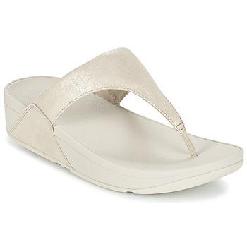 Schuhe Damen Zehensandalen FitFlop SHIMMY SUEDE TOE-POST Gold
