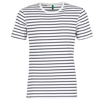 Kleidung Herren T-Shirts Benetton MAKOUL Blau / Weiss