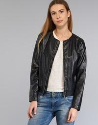 Kleidung Damen Lederjacken / Kunstlederjacken Benetton JANOURA Schwarz