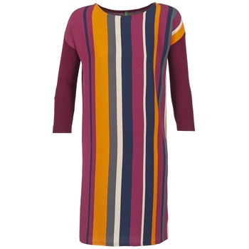 Kleidung Damen Kurze Kleider Benetton VAGODA Bordeaux / Multicolor