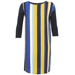 Kleidung Damen Kurze Kleider Benetton VAGODA Blau / Gelb / Weiss