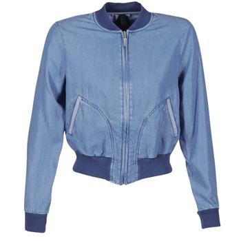 Kleidung Damen Jeansjacken Benetton FERMANO Blau