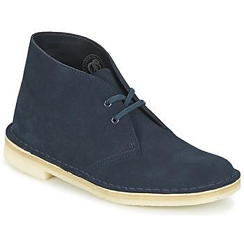 Schuhe Damen Boots Clarks DESERT BOOT Blau