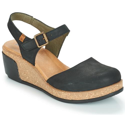 El Naturalista LEAVES Schwarz Schuhe Sandalen / Sandaletten Damen 87,20