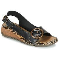 Schuhe Damen Sandalen / Sandaletten Fly London TRAMFLY Schwarz