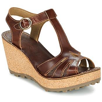 Schuhe Damen Sandalen / Sandaletten Fly London GOLDY Braun