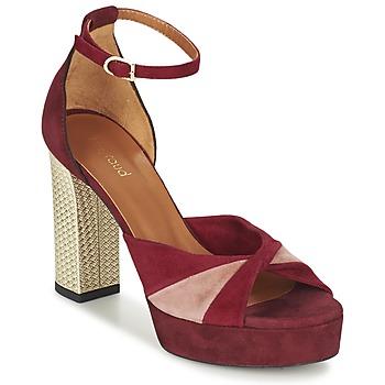 Schuhe Damen Sandalen / Sandaletten Heyraud EVELINE Rot / Rose / Gold