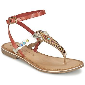 Schuhe Damen Sandalen / Sandaletten Lola Espeleta ELODIE Rot / Silbern