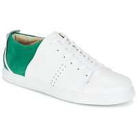 Schuhe Herren Sneaker Low M. Moustache RENE Weiss / Grün