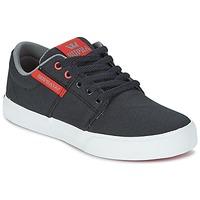Schuhe Kinder Sneaker Low Supra KIDS STACKS II VULC Schwarz / Rot