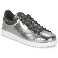 Schuhe Damen Sneaker Low Victoria DEPORTIVO BASKET METALLISE Silbern