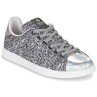Schuhe Damen Sneaker Low Victoria DEPORTIVO BASKET GLITTER Silbern
