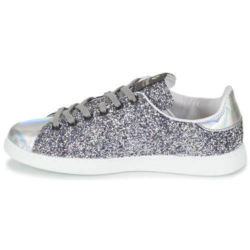 Victoria Low DEPORTIVO BASKET GLITTER Silbern  Schuhe Sneaker Low Victoria Damen 69 1bc040