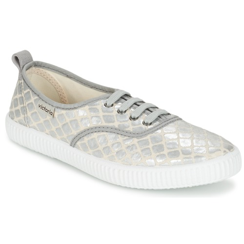 Victoria INGLES TEJ PLACA SERPIENTE Silbern  Schuhe Sneaker Low Damen 45