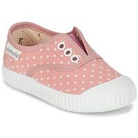 Schuhe Mädchen Sneaker Low Victoria INGLESA LUNARES ELASTICO Rose / Weiss
