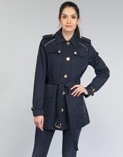 Kleidung Damen Trenchcoats MICHAEL Michael Kors ZIPPER YOKE TRENCH Marine