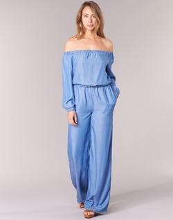 Kleidung Damen Overalls / Latzhosen MICHAEL Michael Kors TENCEL OFF SHDR JUMPSUIT Blau