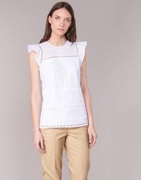 Kleidung Damen Tops / Blusen MICHAEL Michael Kors COMBO EYELET S/S Weiss