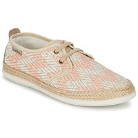 Schuhe Damen Sneaker Low Victoria BLUCHER TEJIDO ZIG-ZAG Lachs