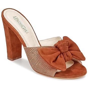 Schuhe Damen Pantoffel Paco Gil BRAZIL Braun