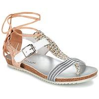 Schuhe Damen Sandalen / Sandaletten Regard RABALU Weiss / Beige