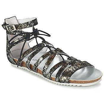 Schuhe Damen Sandalen / Sandaletten Regard RABAZO Schwarz / Silbern