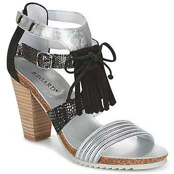 Schuhe Damen Sandalen / Sandaletten Regard RIKA Grau / Schwarz
