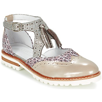 Schuhe Damen Derby-Schuhe Regard ROAXO Beige / Silbern
