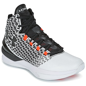 Schuhe Herren Basketballschuhe Under Armour UA ClutchFit Drive 3 Weiss / Schwarz / Orange