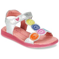 Schuhe Mädchen Sandalen / Sandaletten Agatha Ruiz de la Prada BIDINETTE Silbern