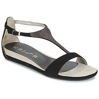 Schuhe Damen Sandalen / Sandaletten Unisa APICE Schwarz