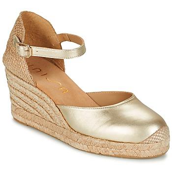 Schuhe Damen Sandalen / Sandaletten Unisa CACERES Silbern