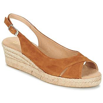 Schuhe Damen Sandalen / Sandaletten Unisa CAMPI Camel