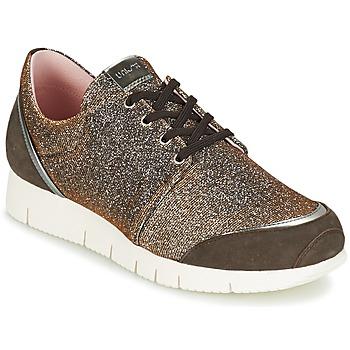 Schuhe Damen Sneaker Low Unisa BOMBA Silbern