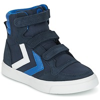 Schuhe Kinder Sneaker High Hummel STADIL CANVAS HIGH JR Blau / Weiss