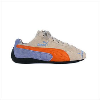 Schuhe Kinder Sneaker Low Puma Speed Cat Blau-Orangefarbig-Creme