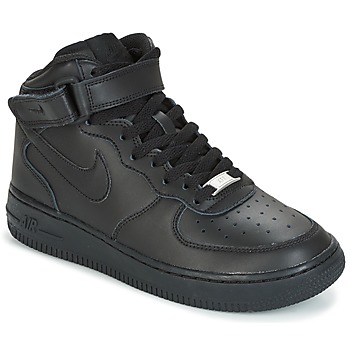 Schuhe Kinder Sneaker High Nike AIR FORCE 1 MID 06 JUNIOR Schwarz