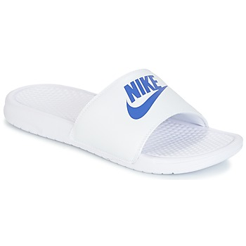Schuhe Herren Pantoletten Nike BENASSI JUST DO IT Weiss / Blau