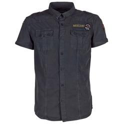Kleidung Herren Kurzärmelige Hemden Deeluxe BURTY Grau