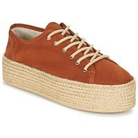 Schuhe Damen Leinen-Pantoletten mit gefloch Ippon Vintage NAMI COLORS Camel