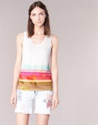 Kleidung Damen Tops Desigual TEDERI Weiss / Multifarben