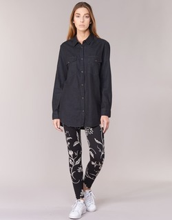 Kleidung Damen Leggings Desigual CAMIOLES Schwarz / Grau