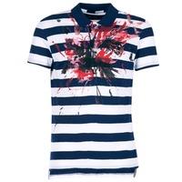 Kleidung Herren Polohemden Desigual RELIRA Weiss / Marine / Rot