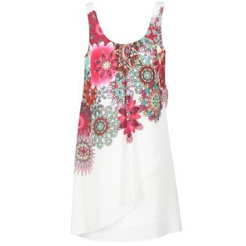 Kleidung Damen Kurze Kleider Desigual LIORASA Weiss / Rot / Rose