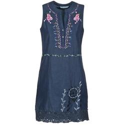 Kleidung Damen Kurze Kleider Desigual LIRASE Blau