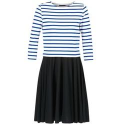 Kleidung Damen Kurze Kleider Petit Bateau FINALLY Weiss / Blau