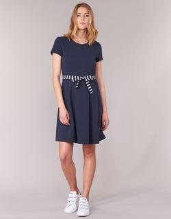 Kleidung Damen Kurze Kleider Petit Bateau FLARE Marine