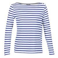 Kleidung Damen Langarmshirts Petit Bateau FIX Weiss / Blau